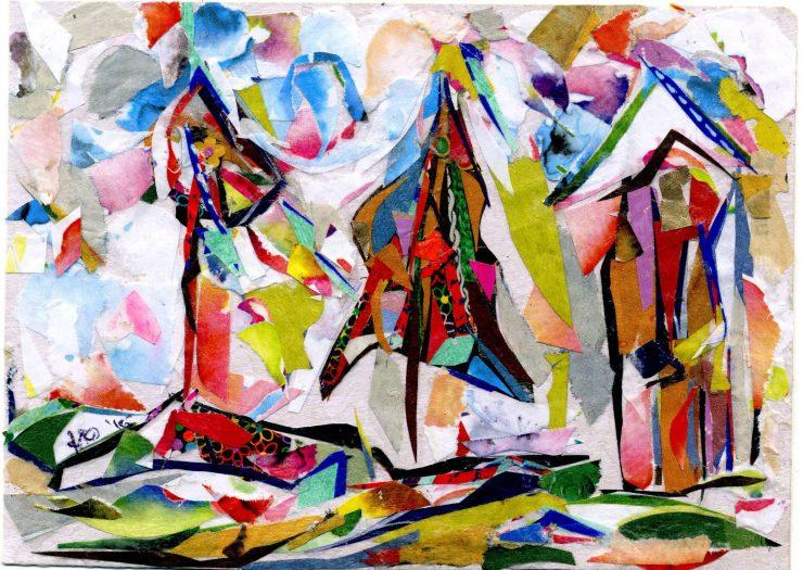 1d83c2a631 Giovanna Carbone: la magia policromatica del collage ...